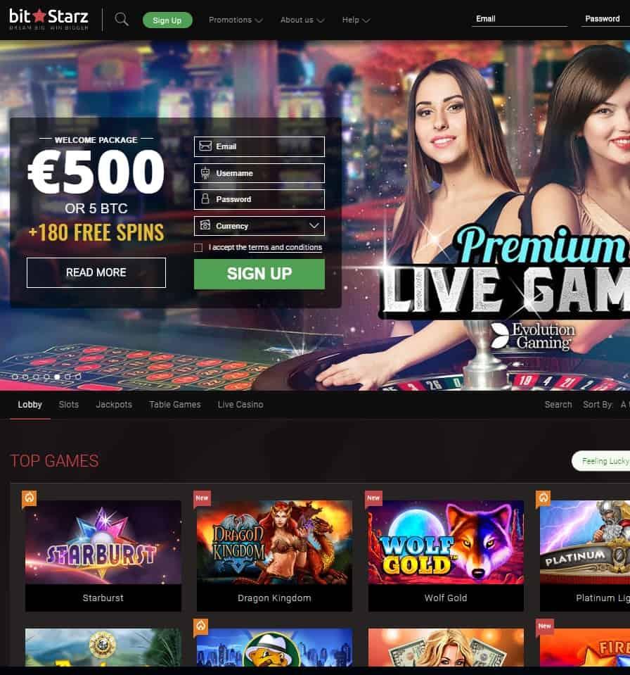 BitStarz Casino Website