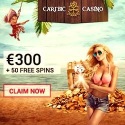 Caribic Casino 125 free spins + 150% free bonus + €300 gratis chips