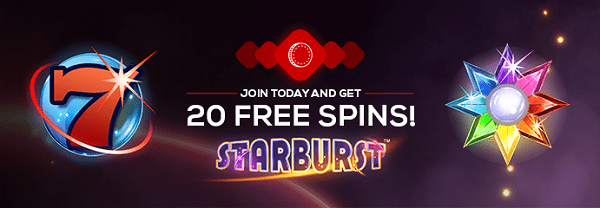 20 free spins on Starburst