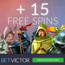 BetVictor Casino & Sports - 200% bonus and 15 free spins