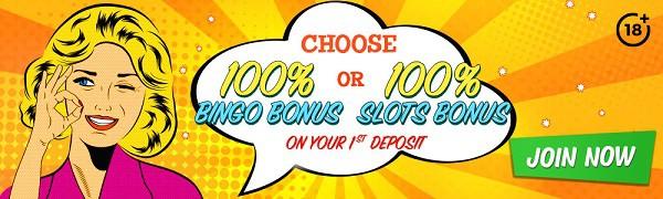 Bingo Extra Casino 100% welcome bonus and free spins