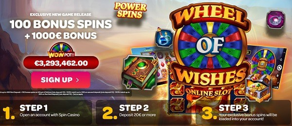 100 Exclusive Free Spins on Wheel of Wishes