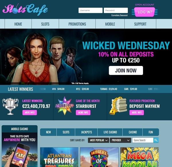 Slots Cafe Casino Register Login Free Spins Cash Bonuses