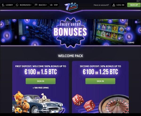 100 free spins and 4 BTC welcome bonus