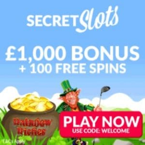 Secret Slots | 100 free spins and 200% free bonus | UK Casino