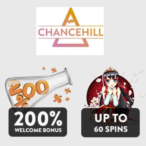 CHANCE HILL - 25 gratis spins and 200% casino bonus - online & mobile
