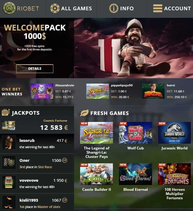 Riobet.com Casino Review