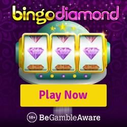 Bingo Diamond Casino 10 FS NDB + 150 free spins + £200 free bonus