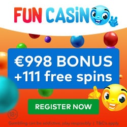Fun Casino 11 FS gratis plus 100 free spins and €998 welcome bonus