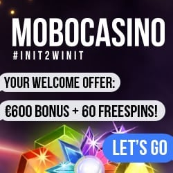 Mobo Casino 200 free spins and 100% up to €600 free bonus