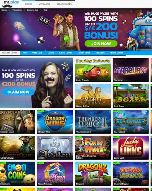 Mr Play Casino Review