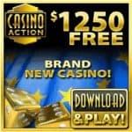 Casino Action 100 free spins + 325% up to €/$1250 free bonus