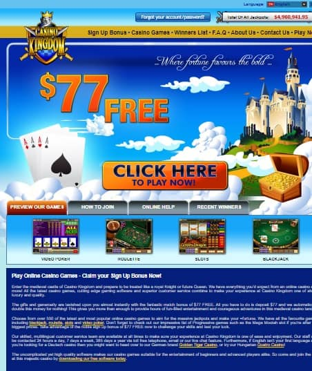 Casino Kingdom free bonus