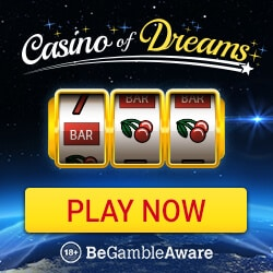 Casino of Dreams 50 free spins + 175% up to £1,000 on slots & games
