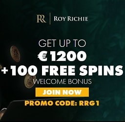 Roy Richie Casino €1200 & 100 free spins - exclusive bonus codes!