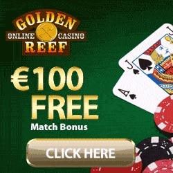 Golden Reef Casino 100 free spins + 100% up to €/$100 free bonus
