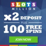 How to get 200 free spins and 200% bonus to SlotsMillion Casino?