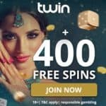 Twin Casino [Twin.com] 400 free spins & 200% welcome bonus