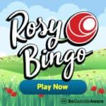 Rosy Bingo UK Casino: 65 free spins and £30 free play bonus