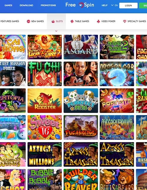 Free Spin Casino $25 no deposit required