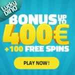 Lucky Dino Casino 100 free spins and €400 bonus for new players