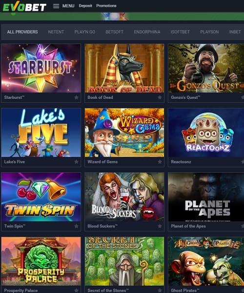 Evobet Casino free spins bonus