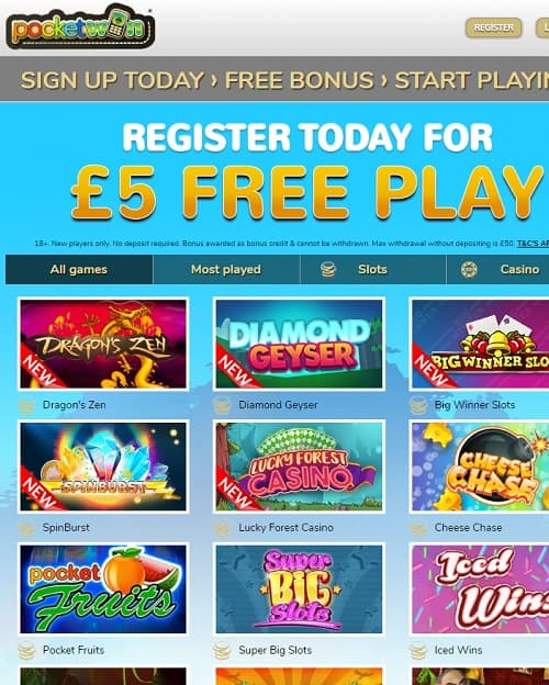 Pocket Win Casino review info