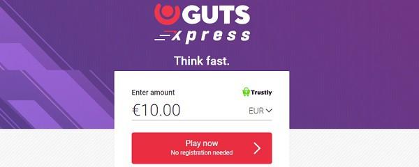 Guts Xpress Casino no bonus and no free spins
