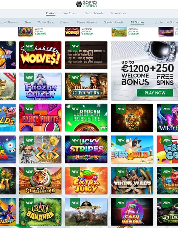 GoPro Casino review and rating