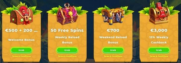 Wazamba Casino welcome bonus pack