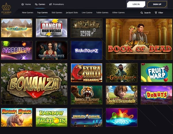 21 Casino Review & Rating: 9.5/10.