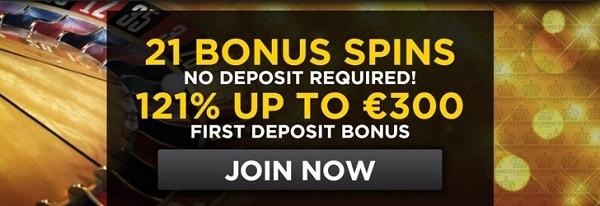 21 Casino 21 free spins no deposit required!
