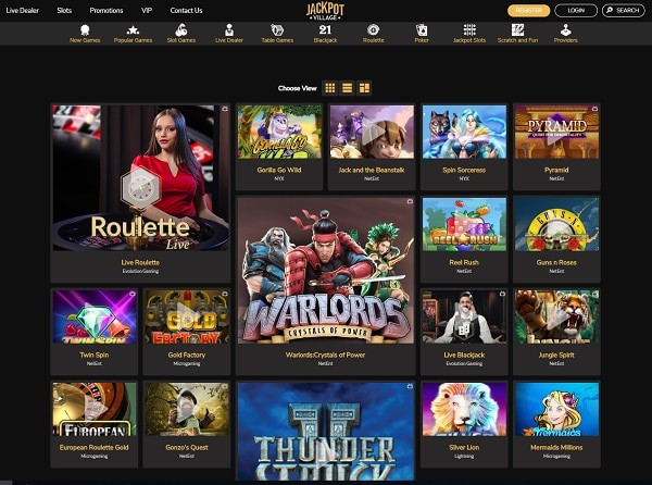 Jackpot Village Casino Review & Rating