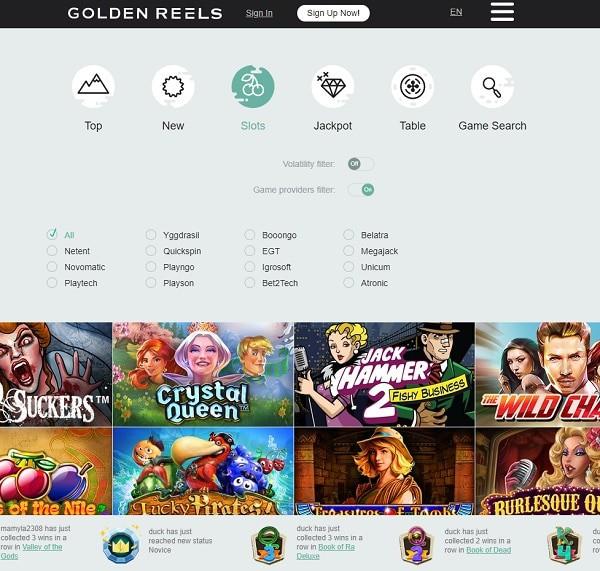 GoldenReel Casino Online
