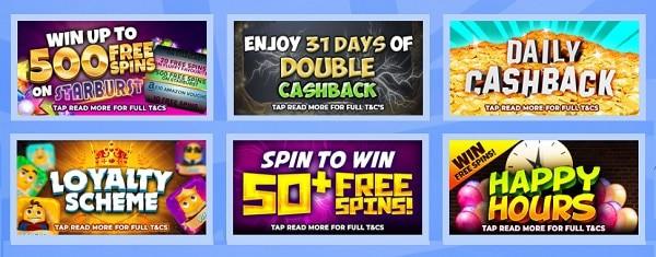 British Spins Casino 500 Free Spins Bonus