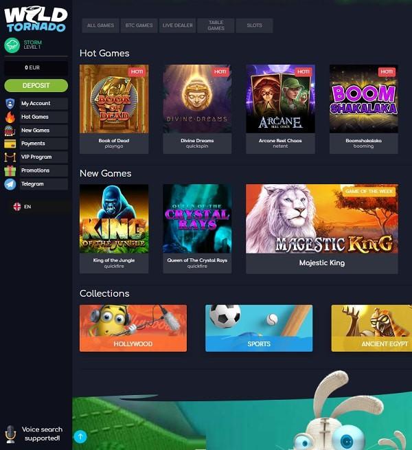 Wild Tornado Casino Online & Mobile - Crypto Games