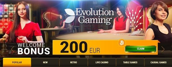 Get 200 EUR welcome bonus!