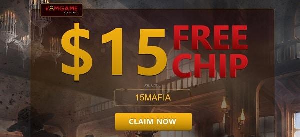 $15 free chip bonus code