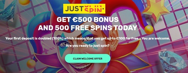 500 free spins Just Spin Casino