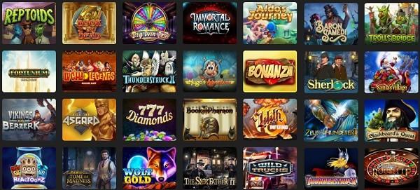 Popular slots, video poker, jackpots, live dealer