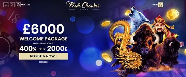 4 Crowns free spins bonus