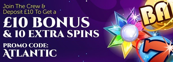 10 GBP bonus and 10 free spins for new players