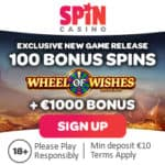 Spin Casino [register & login] 100 free spins on Wheel of Wishes