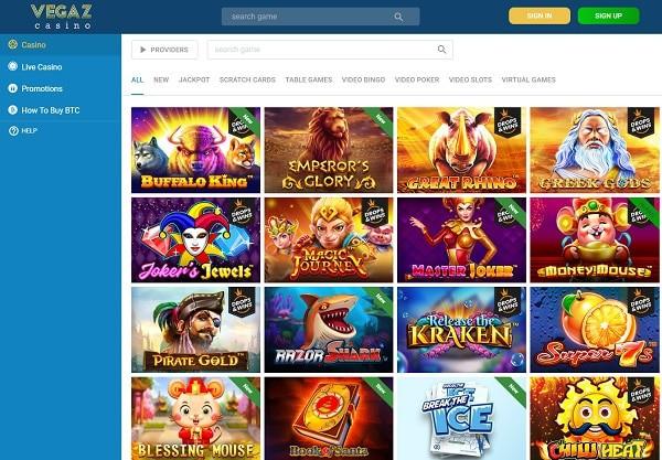 Vegaz Casino Online Review