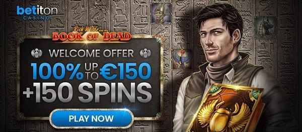 Book of Dead free spins bonus in welcome bonus