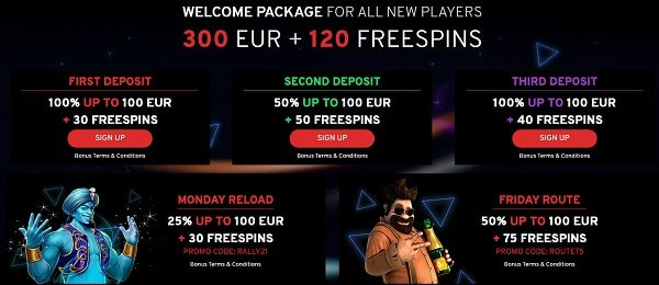 N1 welcome bonus and free spins