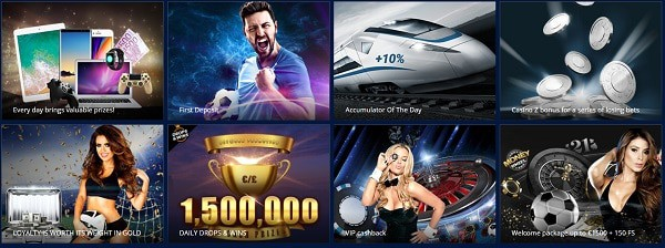 Promotions, Daily Tournaments, Free Bets