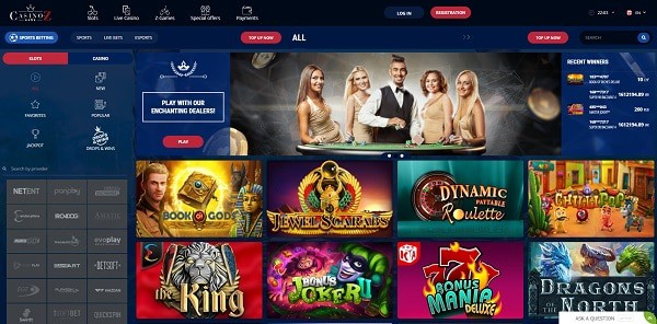 Play the best online slots and table games in the best online casino!
