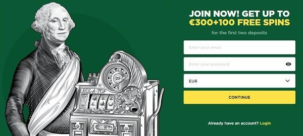 100% bonus and 300 EUR welcome bonus