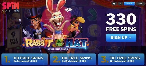 Enjoy 330 free spins after deposit!